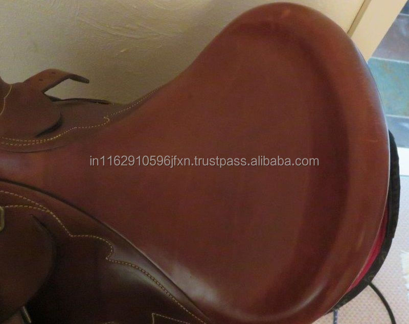 Horse leather barco poly saddle