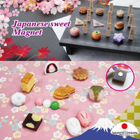 Colorful Wagashi resin fridge magnet for souvenir and present
