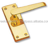 POLISHED BRASS DOOR HANDLES