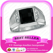 Pure Sterling Silver 925 Custom Made Black Onyx Wholesale Class Ring