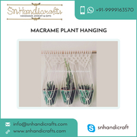 Attractive Look Best Material Made Macrame Plant Hanging for Home Decor