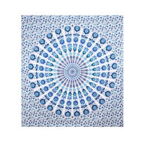 Traditional Ombre Mandala Beach Tapestry Hippie Throw Yoga Mat Indian Blanket