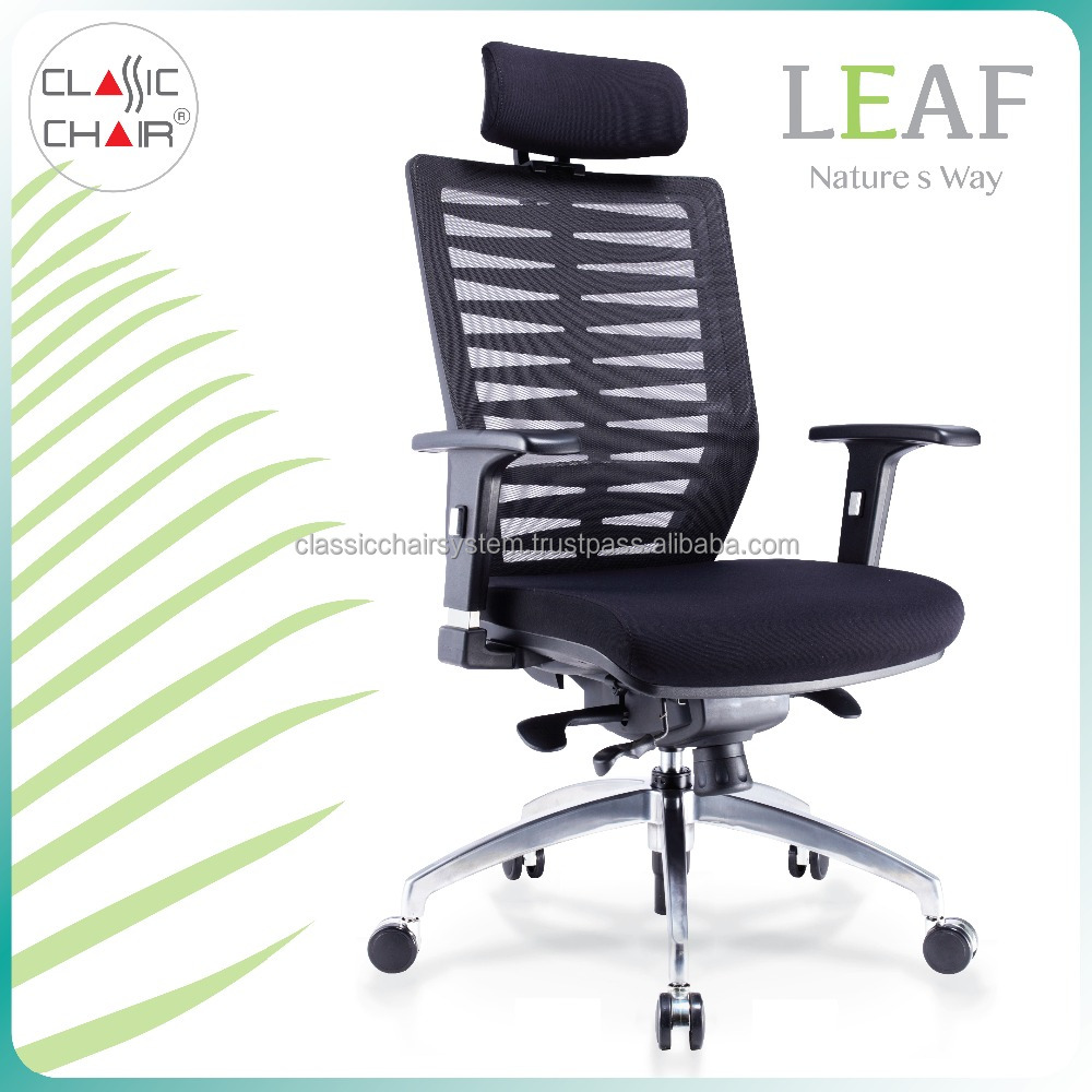 Malaysia Modern Swivel Mesh Office Chair with Headrest