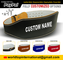CUSTOM LEATHER WEIGHT LIFTING BELT, GYM CUSTOM BELTS. CUSTOM BELT DESIGN, BODYBUILDING LOGO ON CUSTOM BELT,