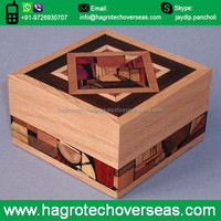 Wholesale Custom Pine Wood Plank Wooden Gift Boxes with Top Lids