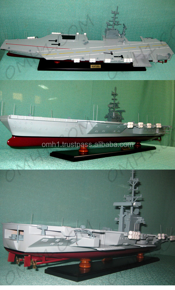 Aircraft Carrier - Vietnam High quality handmade wooden model boat