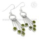 Souvenir Peridot Earring Indian Silver Earring 925 Sterling Silver Jewelry Supplier