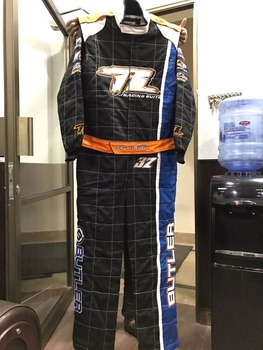 Car Racing Custom suit with white stich box