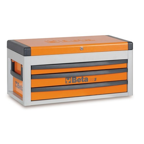 Beta Tools 022000441, 2200S-O/MTAS Portable Orange Tool Chest with Assortment Set of 99 Car Repair Tools