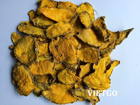 Premium quality natural yellow sliced dried turmeric roots crop 2017