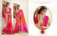indian saree 3203 bandhej