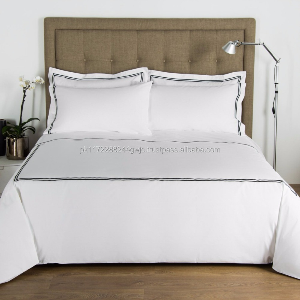 Wholesale price 100% cotton plain luxury hotel bed sheet bedding set/High quality latest style 300 thread count cotton bed sheet