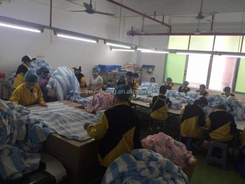 Custom tiger fleece travel blanket maker supplier factory manufacturer