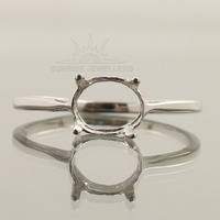 FASHION JEWELLERY SEMI MOUNT RING ANY SIZE OVAL SOLID 925 STERLING SILVER