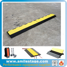Flexible outdoor event cable ramps used in roads