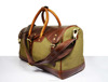 Leather Canvas Travel Bag