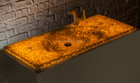 Polymeric Natural Stone Sink Led Lighting
