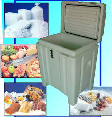 Plastic Thermal Insulated Dry Ice Container