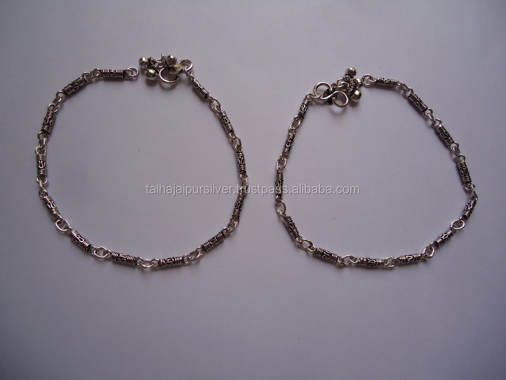 Genuine 925 Sterling Silver anklets , Lateset Design Silver Jewelry Wholesale