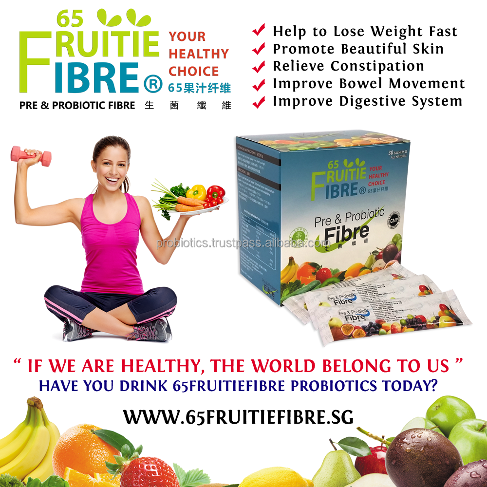 Health Food Supplement - 65FruitieFibre Probiotics - 10 + 1 Box FREE Combo Package - Best Health Food Supplement - Wholesale