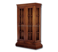 Antique Design Mahogany Wood and Glass Display Cabinet Profile B 2 Living room Furniture