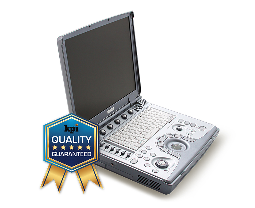 GE Logiq e Shared Service portable ultrasound machine with warranty, and 2 probes