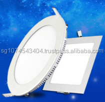 led panel light round and square shape, mounted and recessed type