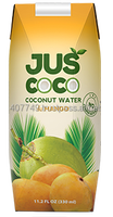 Coconut water with mango fruit pulp