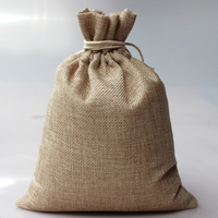 Wholesale Custom Screen Printed Burlap Bag Natural Jute Drawstring Packaging Bags