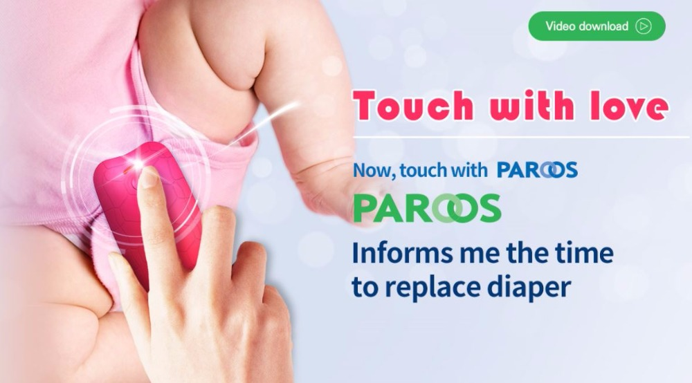Portable device for detecting urine in diapers