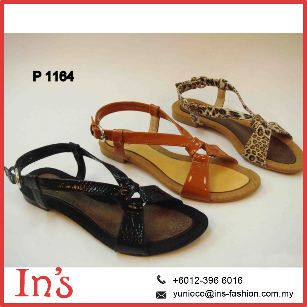 P 1164 Malaysia Ladies flat sandals shoes pictures