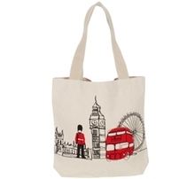 London Calico Bag With Long Handle