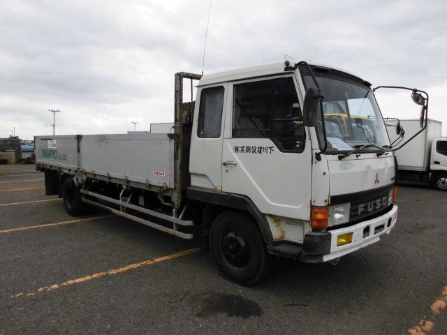 1988 Mitsubishi Fuso Fighter Flatbed FK417KK / 6D16 / Bed Cabin [WSH-26241]