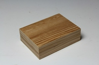Handmade classic timber Japanese shoe storage box made of Japanese cedar