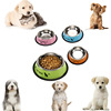 New Arrival Stainless Steel Anti-skid Pet Dog Cat Food Water Bowl Pet Feeding Bowls Tool Dia 11cm