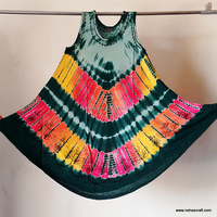High Fashion Women Summer Dresses Rayon Fabric Party Wear One Piece For Girls NCTDD-4 Hippie Tie Dyed Tribal Ethnic Dress