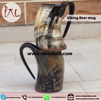 Unique Handcrafted Medium Ox Horn Tankard - Viking drinking horn