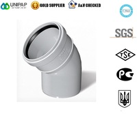 Firat Dublex Pvc Elbow 45 Degree Pipe Fittings for Sewage ( Waste Water Drain ) from Turkey