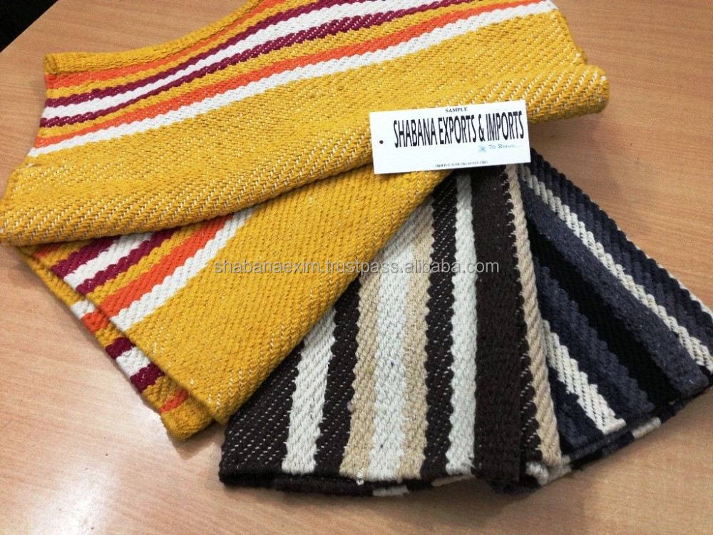 Hand loom Cotton Mat Floor runner Eco- Friendly Cotton Door Mats