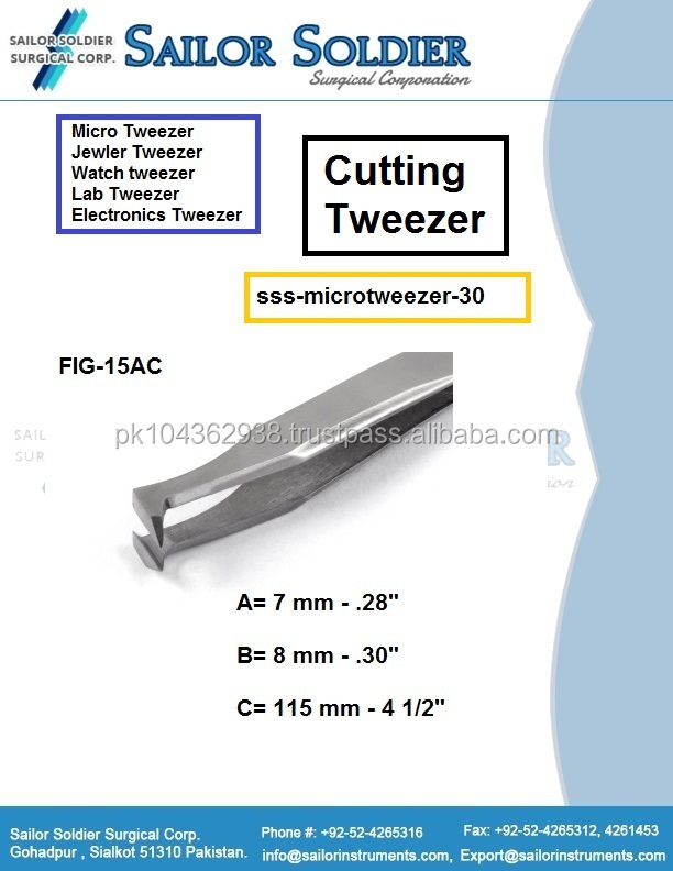 High Precision Angulated Cutting Tweezers