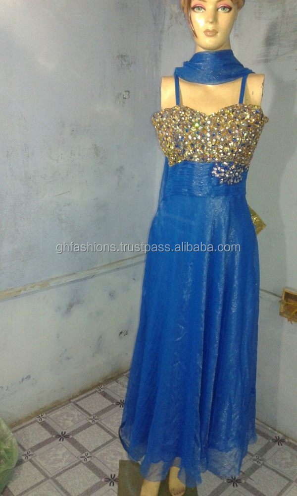 Designer Shiny sleeveless Crystal Gown 2016