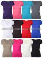2016 Solid-colored women T shirt 100% cotten women summer clothing