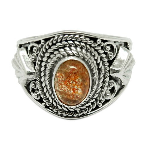 Fashion Look Red Sun Gemstone Bezel Setting 925 Sterling Silver Ring, Wholesale Silver Jewelry, Fashion Silver Jewellery