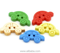 "Mixed Car 2 Holes Wood Painting Sewing Buttons Scrapbooking 19x11mm(3/4""x3/8""), sold per packet of 200"