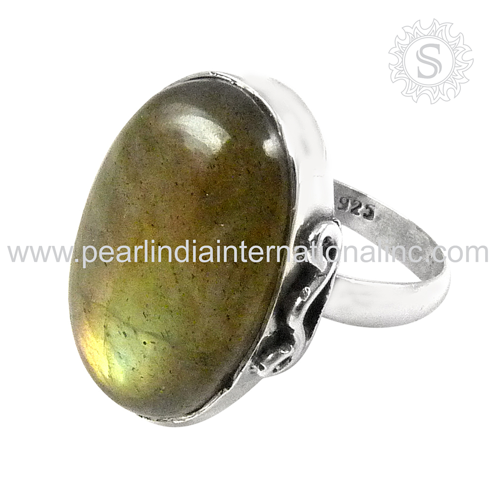 Offers Wholesale Silver Jewelry from India jaipur Labradorite Gemstone Ring Indian Silver Jewellery Exporter
