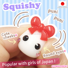 Hot-selling and Original baby Hoppe-chan figurines for Play house , strap also available