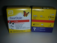 Free Style Lite Blood Glucose Test Strips - 50 each
