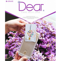00276 For iPhone 6S/Plus/5S/SE/LG G5/G4_Laduce Dear Clear Card Slot Jelly_Smart Cellular Mobile Phone Case Cover Case