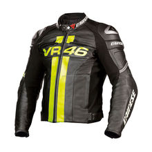 RossiVR46 Moto <span class=keywords><strong>Chaqueta</strong></span> <span class=keywords><strong>de</strong></span> Cuero con Almohadillas <span class=keywords><strong>de</strong></span> Seguridad Hecho A Mano