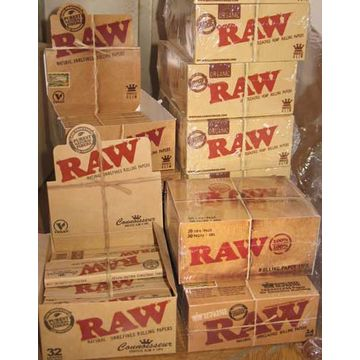 RAW Cigarette Rolling Paper 110mm RAW Natural Unrefined Rolling Paper Natural